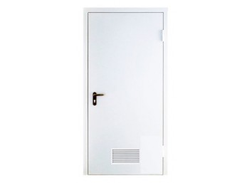 Техническая дверь металлическая с вентиляционной решеткой, размер 860х2060 мм