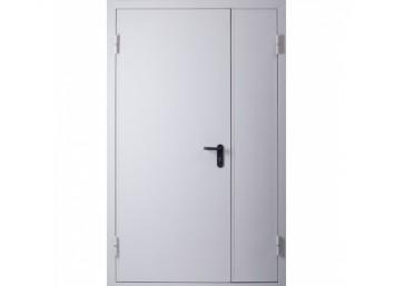 Техническая дверь металлическая двупольная ассиметричная, размер 1260х2060 мм