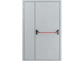 Противопожарная дверь Ei-60 двупольная со штангой Push Bar, размер 1260х2060 мм