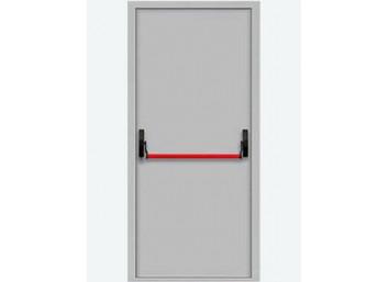 Противопожарная дверь Ei-60 со штангой Push Bar, размер 860х2060 мм